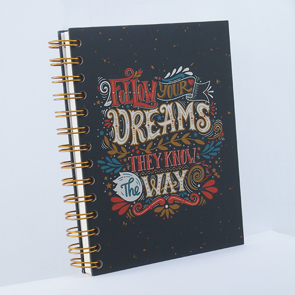 Notebook Wire Binding - #FollowDream - Rp 60.000